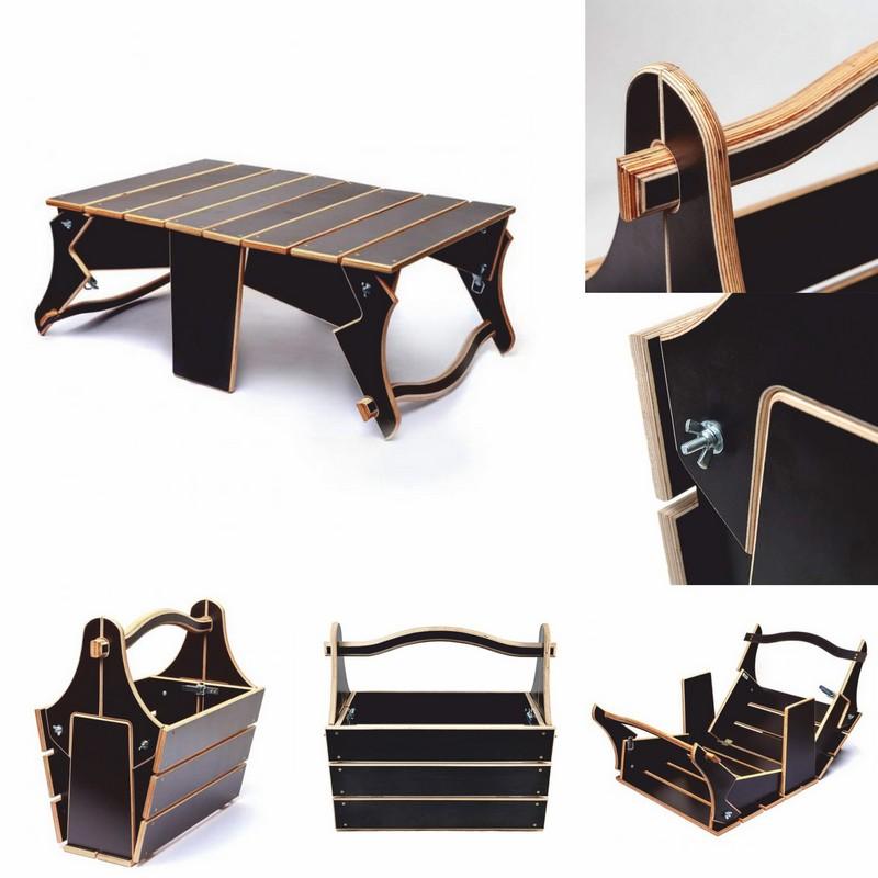 Basket To Folding Picnic Table Free DXF File