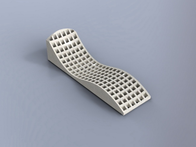 Laser cut Chaise Longue 19mm Flat Free DXF File