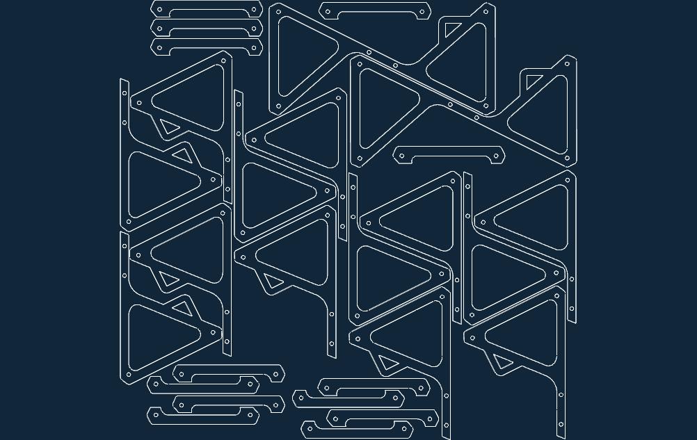 Delta Stool Free DXF File