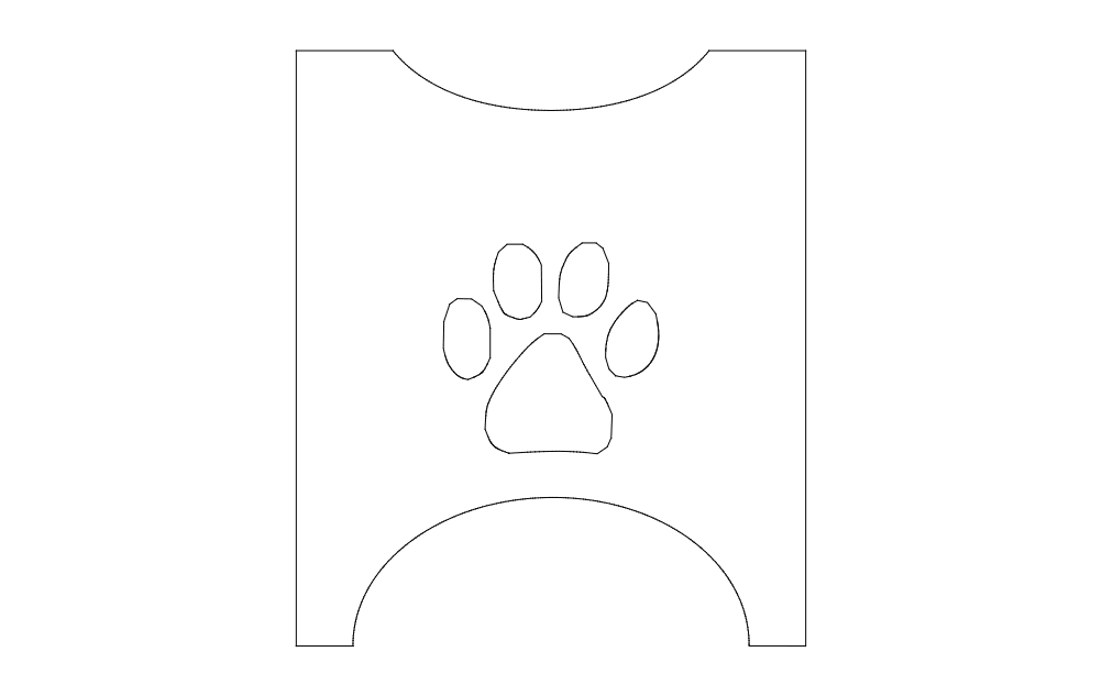 Dog Bowl Stand Side Free DXF File