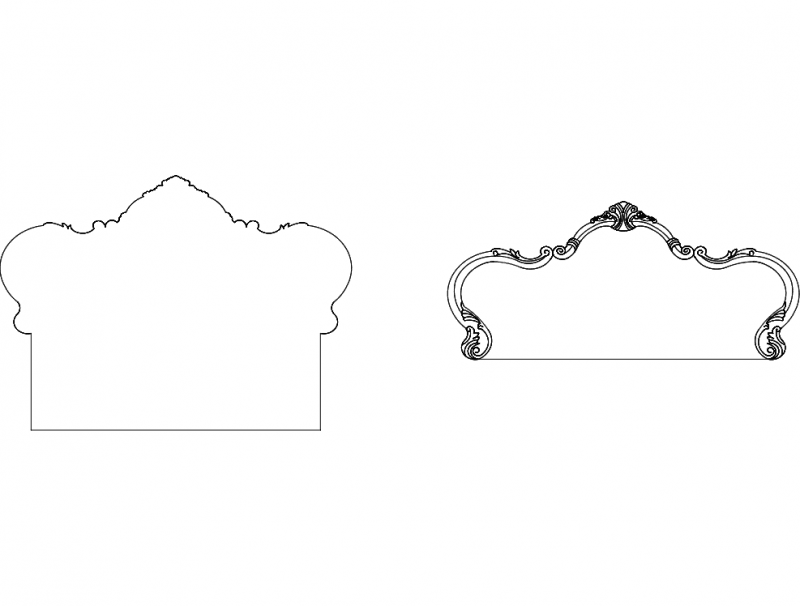 Furniture Design b48 Free DXF File