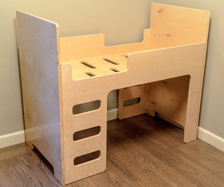Kids Wooden Bunk Bed Free DXF File