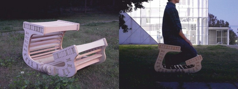 Kneeling Wooden Chair Free DXF File