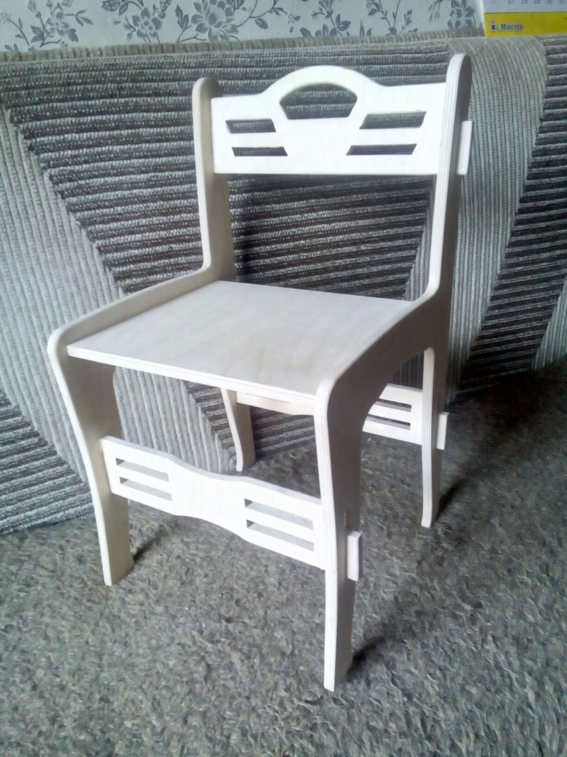 Laser Cut Chair Cnc Template Free DXF File