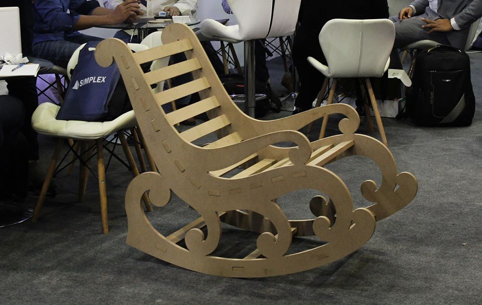 Laser Cut Wooden Chair Template Free DXF File