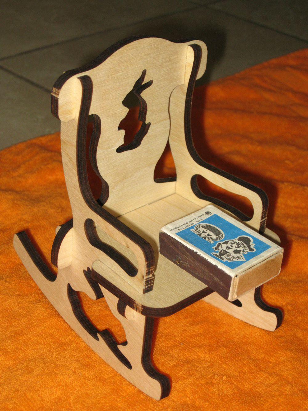 Laser Cut Doll Wooden Chair 6mm Free DXF File