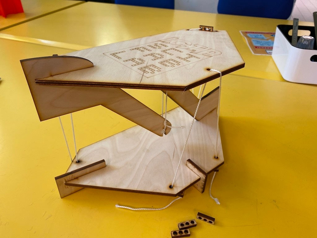 Laser Cut Tensegrity Table 5mm Plywood Free DXF File