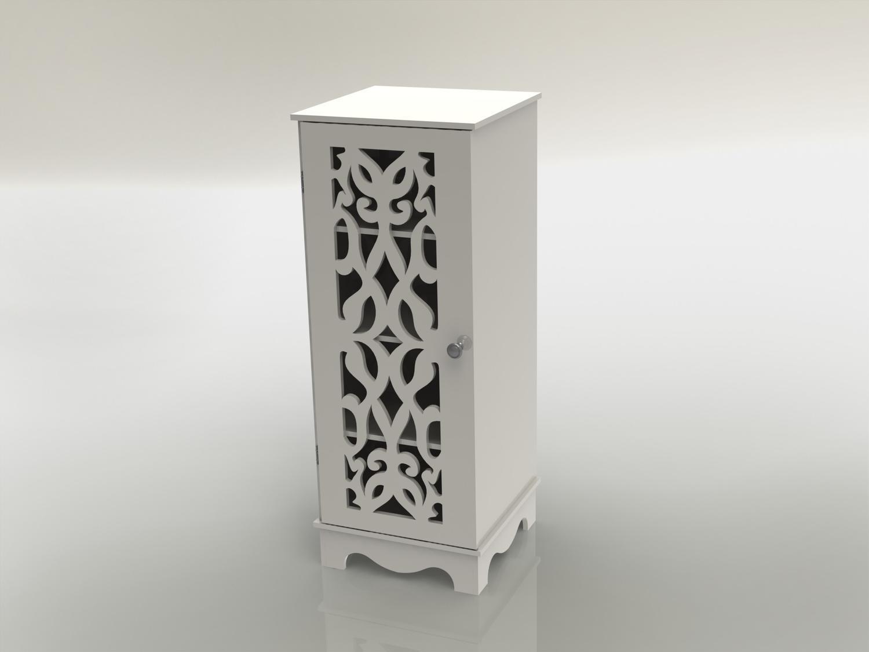 Laser Cut Wooden Cabinet Furniture Shelf Storage Rack 12mm Free DXF File