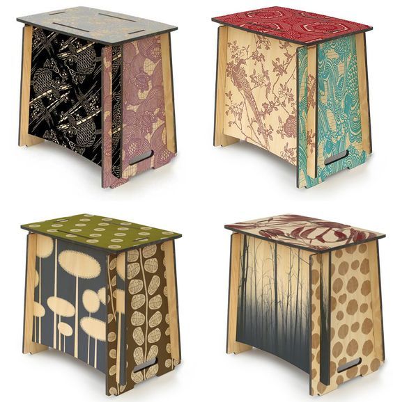 Laser Cut Zaishu Stools Side Tables Slot Together Seat Free DXF File