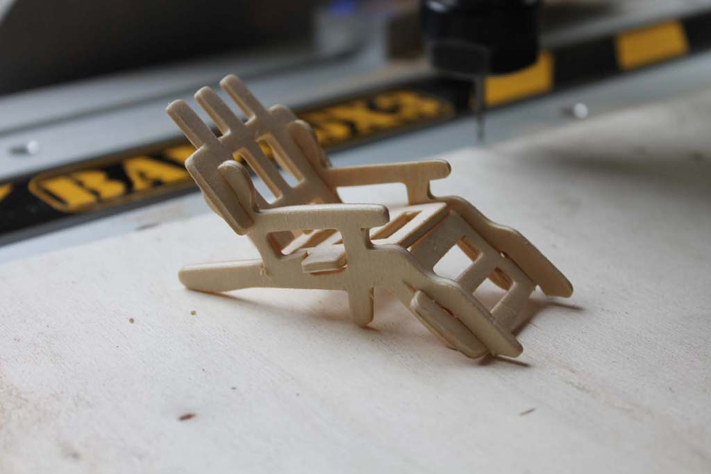 Lawnchair Assembly Free DXF File