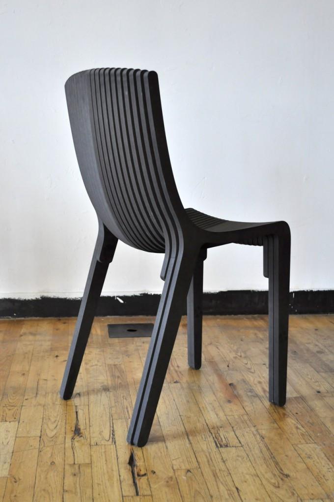 Layer Rocker Chair Design Free DXF File