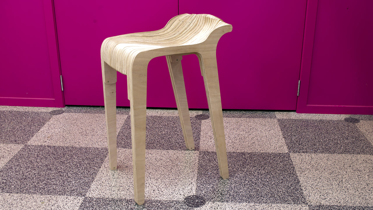 Layer Stool Wooden Free DXF File
