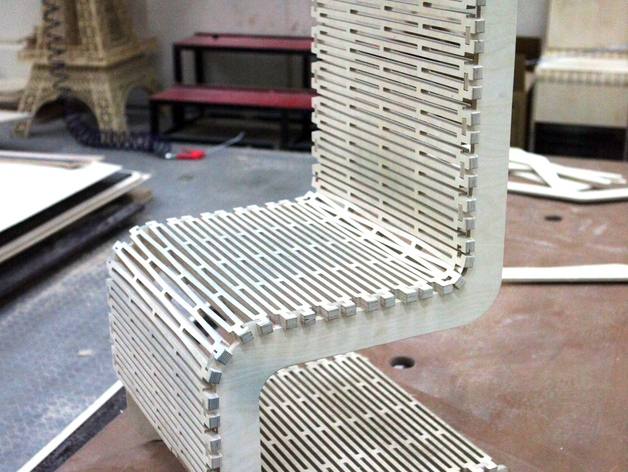 Live Hinge Chair Free DXF File