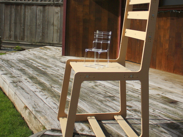 One Day Wooden Chair Free DXF File