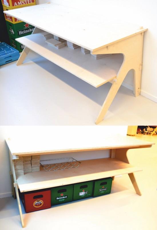 Plywood Desk Free DXF File