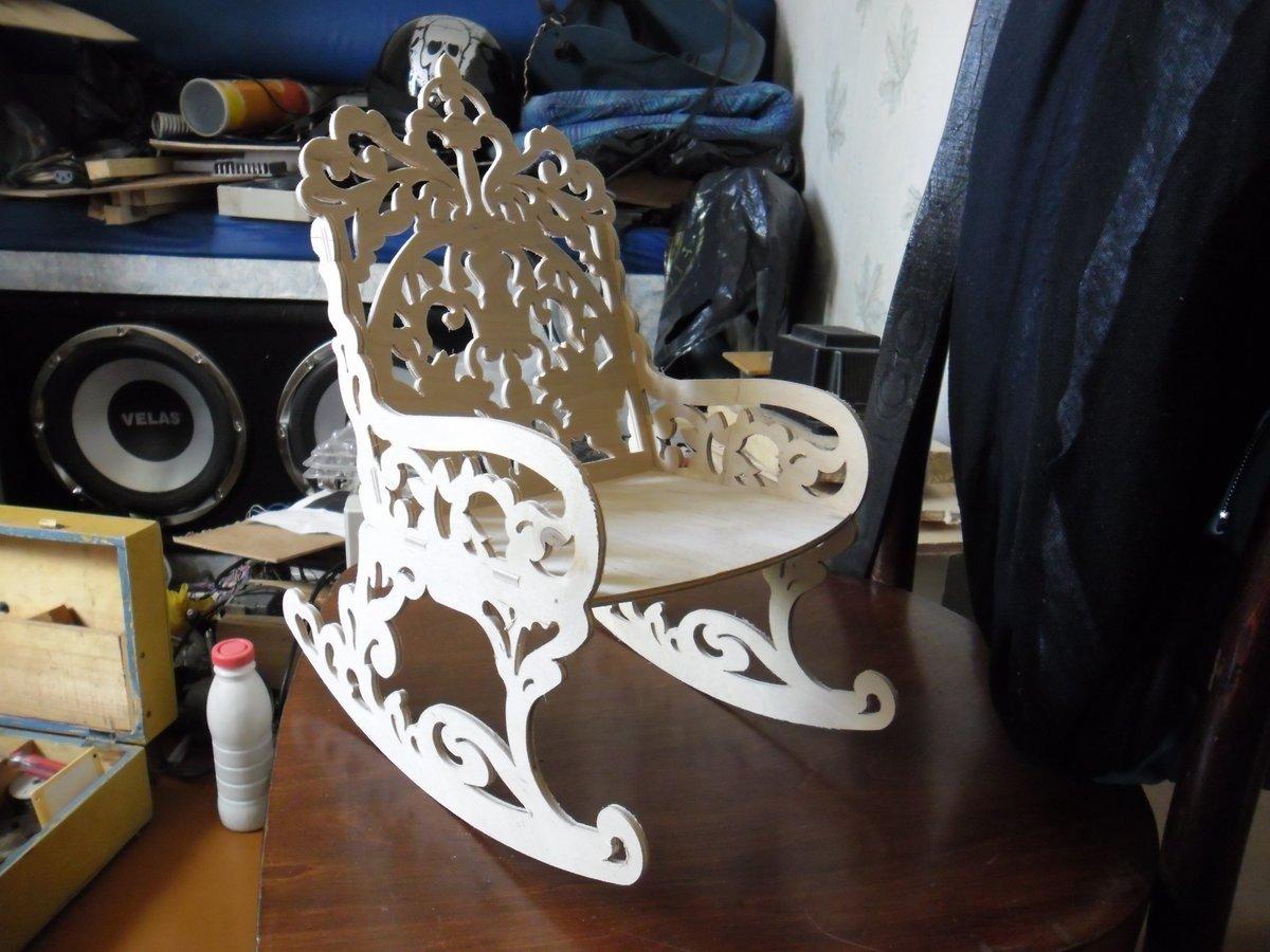 Rocking Chair Laser Cut Free DXF File