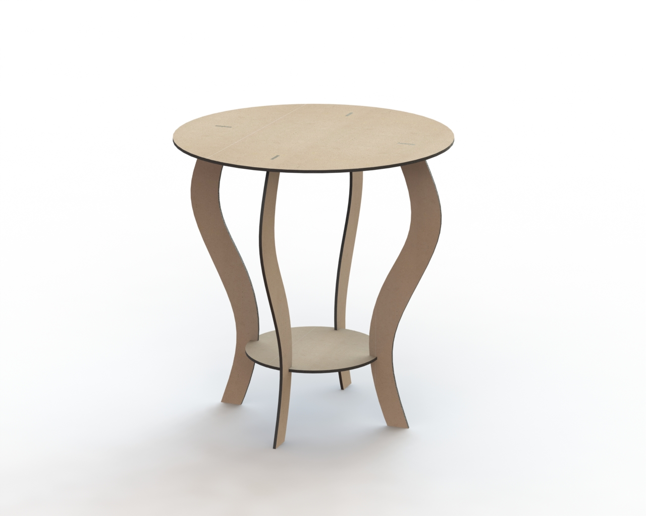 Round Table 650 Mm Free DXF File