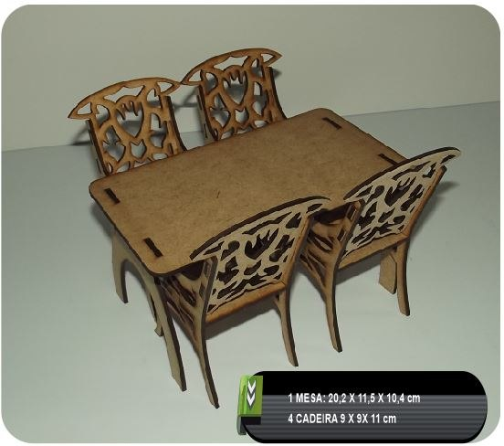 Laser Cut Table And Chairs Free DXF File