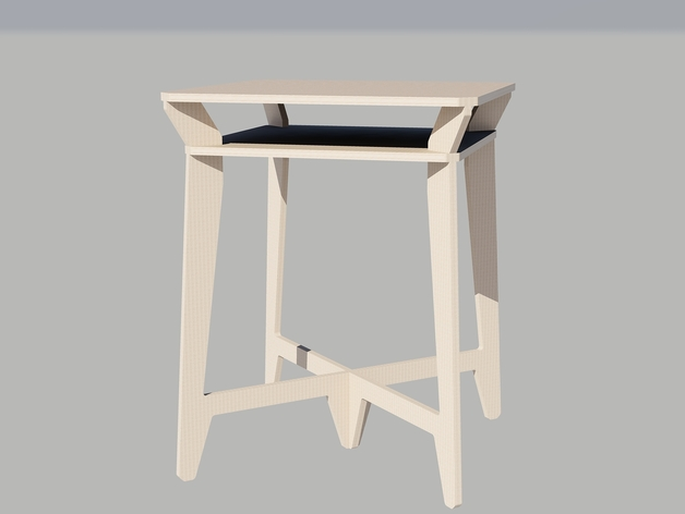 Laser Cut Table Final Free DXF File