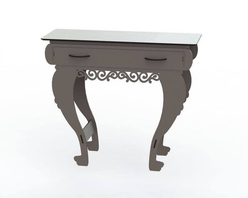 Wooden End Table With Drawers Free DXF File