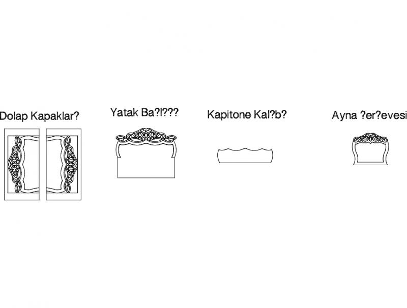 Yatak Odas Free DXF File
