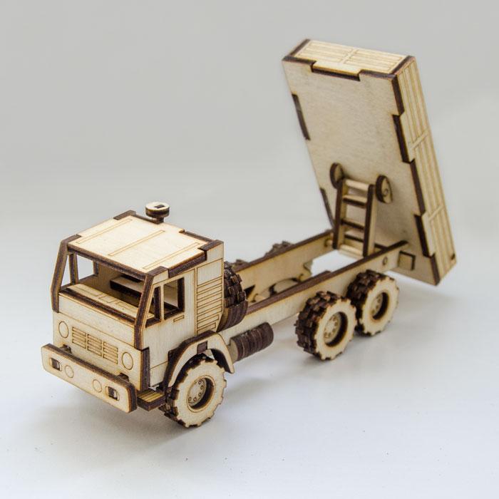 Laser Cut Dump Truck Toy Free CDR Vectors Art
