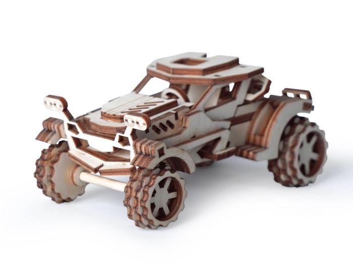 Laser Cut Scorpio Wooden Toy Car Model Free CDR Vectors Art