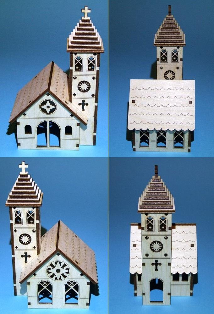 Church Plywood Laser Cut Template Free CDR Vectors Art