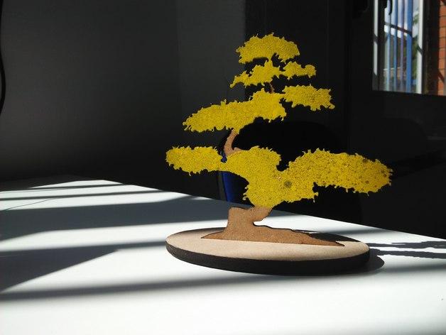Laser Cut Bonsai Tree Free CDR Vectors Art