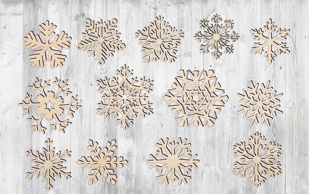 Laser Cut Snowflake Cut Out Free CDR Vectors Art