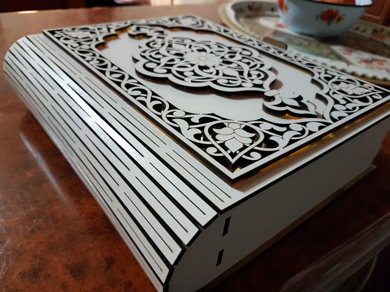 Beautiful Laser Cut Box Design Free CDR Vectors Art