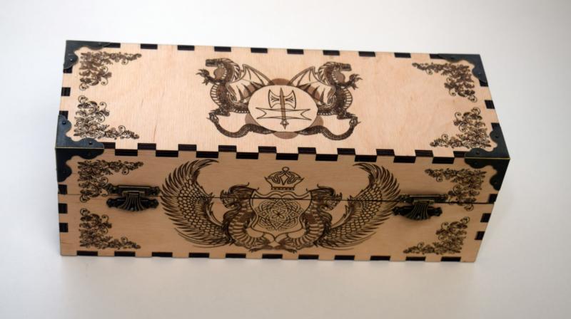 Box With Dragon Image Laser Cut Free CDR Vectors Art