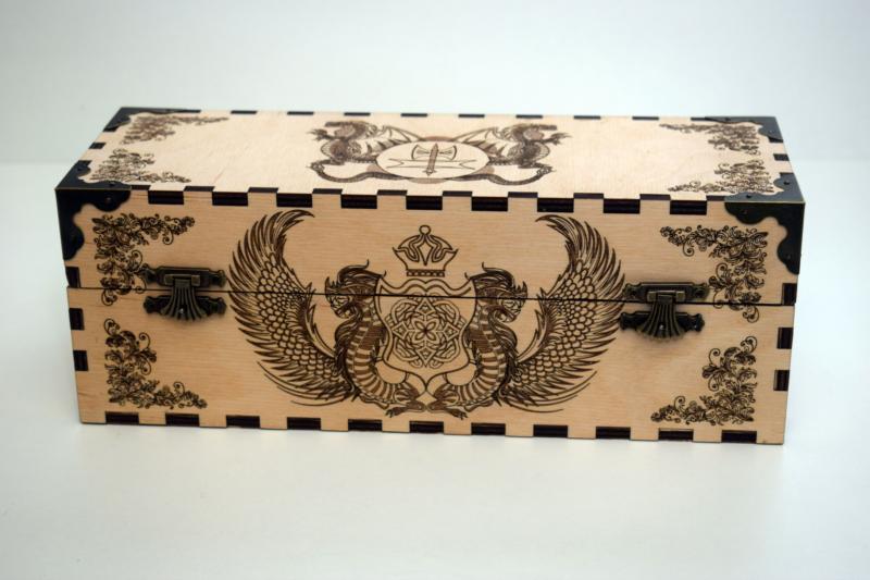 Decor Box Dragon Art Design Laser Cut Free CDR Vectors Art