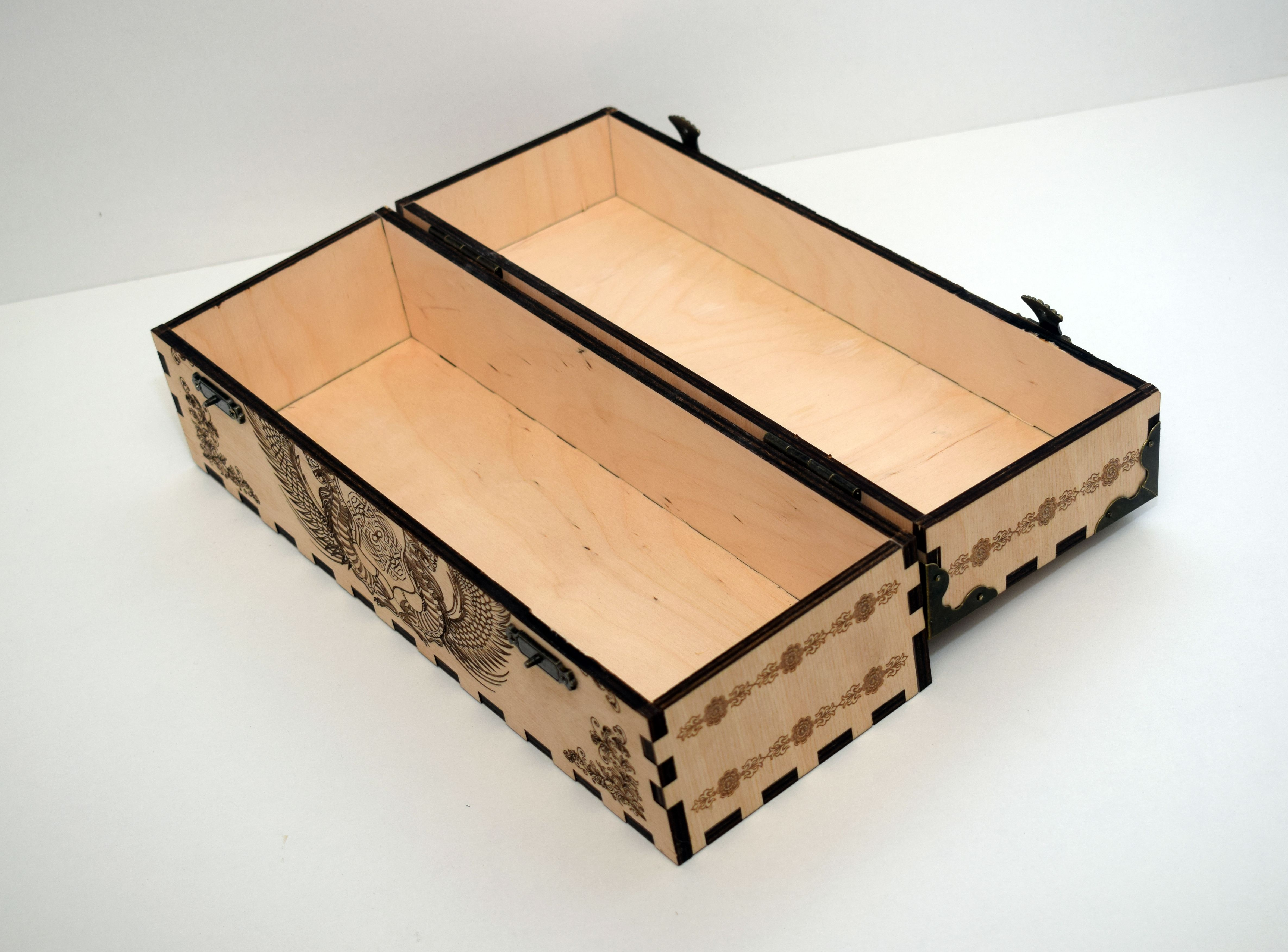 Laser Cut Decoration Box With Cover Free CDR Vectors Art
