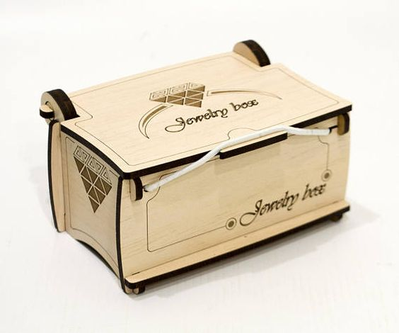 Laser Cut Wooden Jewelry Box With Lid Template Free CDR Vectors Art