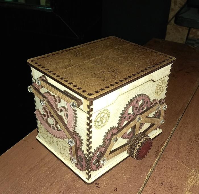 Wooden Safe Box Free CDR Vectors Art