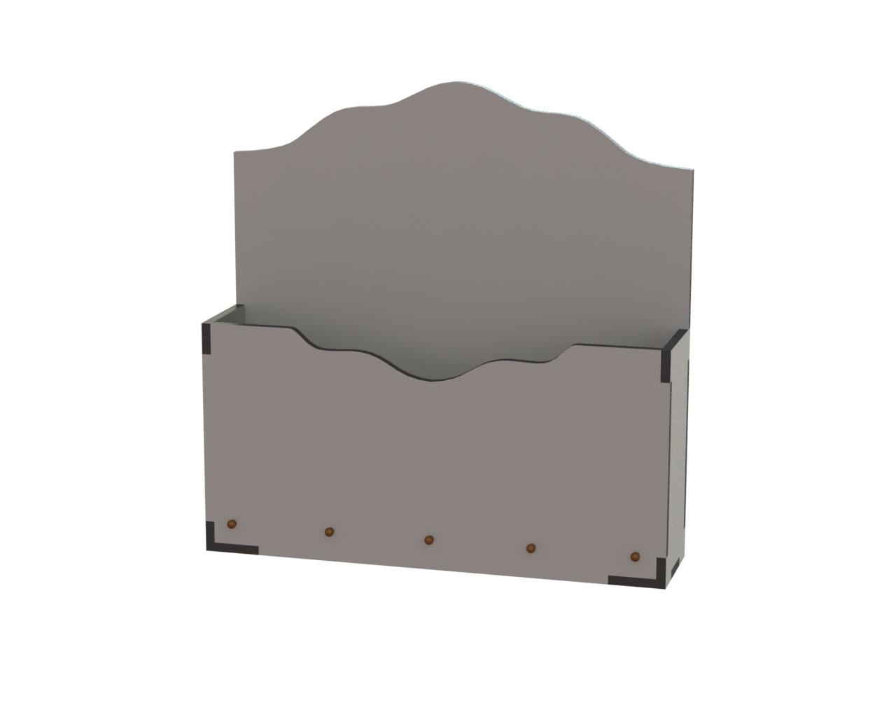 Laser Cut Decorative Box Wood Free DXF File