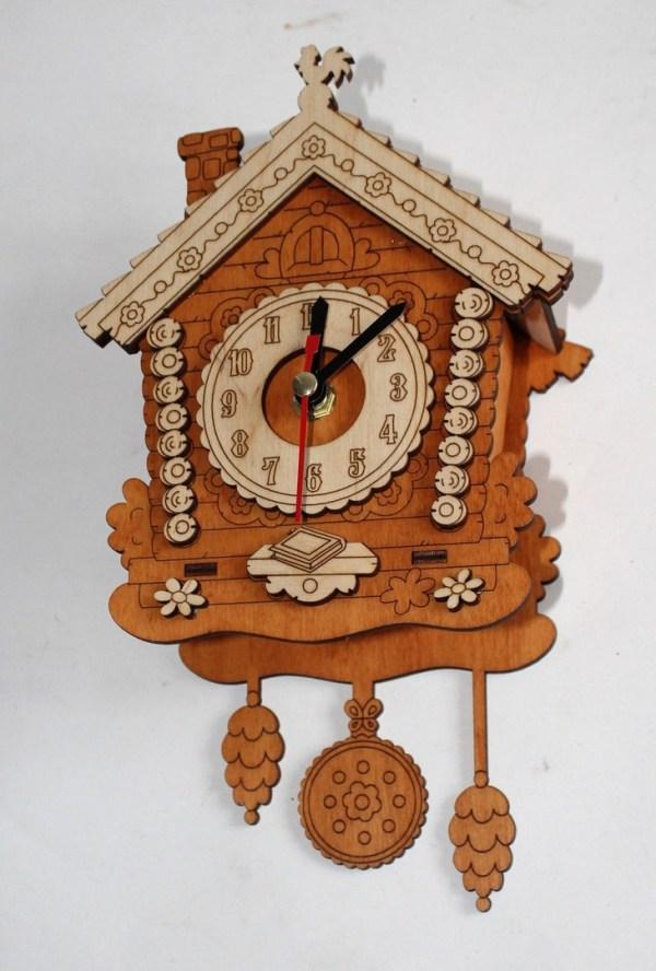 3d House Clock Cnc Free CDR Vectors Art