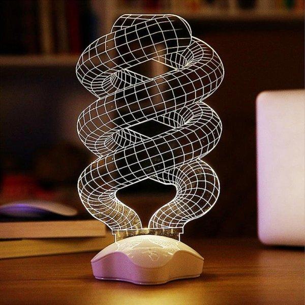Helical Illusion Lamp Cnc Free CDR Vectors Art