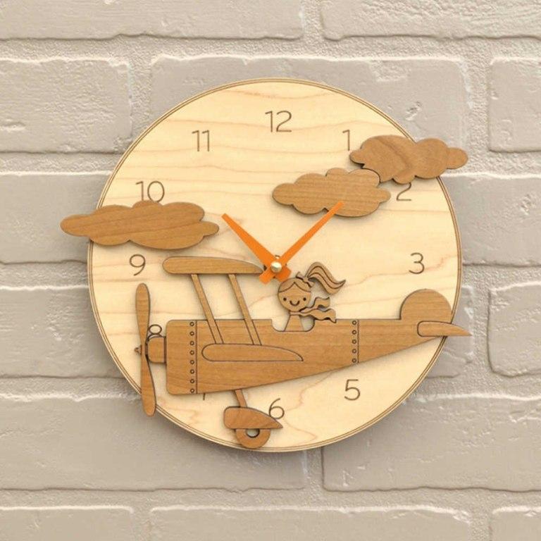 Laser Cutting Wooden Clock Cnc Free CDR Vectors Art