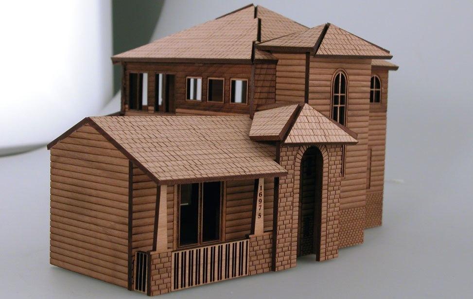 Wooden Architectural Model Puzzle Cnc Free CDR Vectors Art