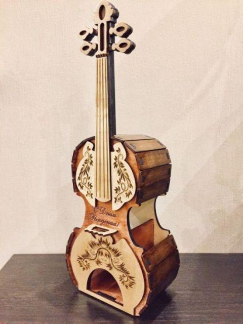 Wooden Guitar Cnc Cutting Free CDR Vectors Art