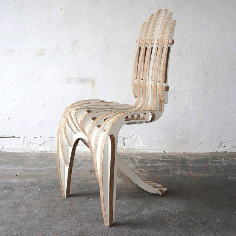 Designer Chair Cnc Free DXF File