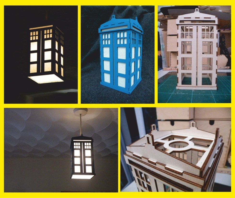 Wooden Lamp Laser Cutting Cnc Free DXF File
