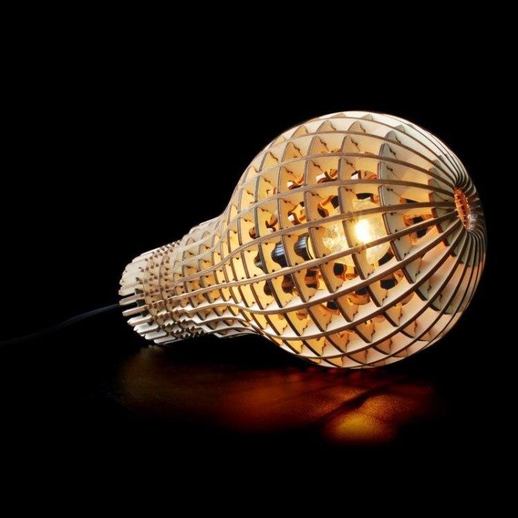 Bulb Lamp Laser Cut Plan Free DXF File