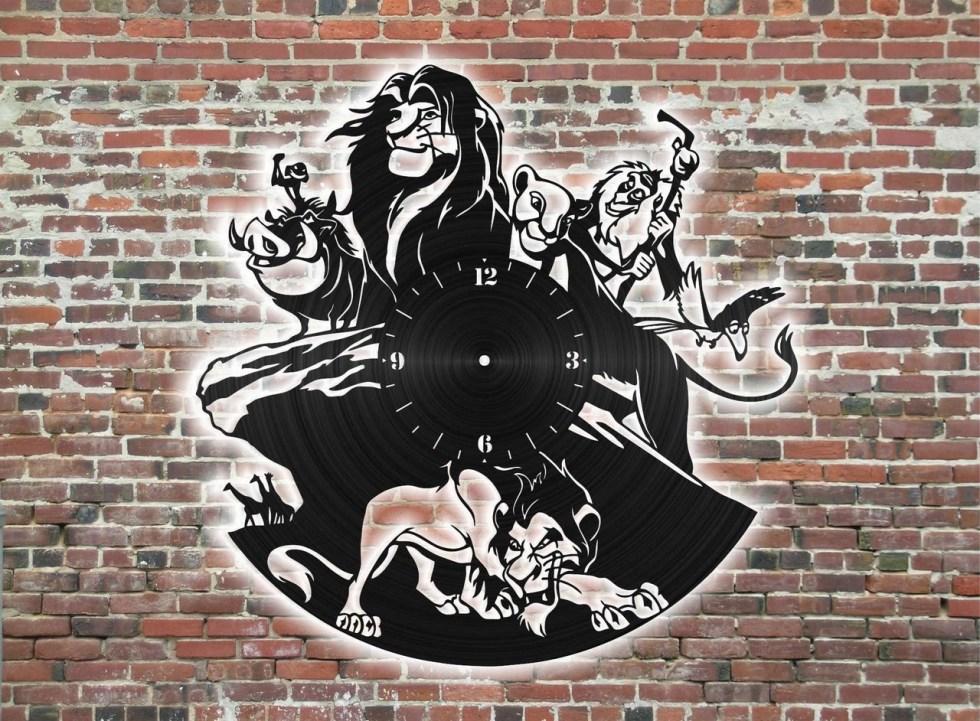 King Lion Clock Cnc Free CDR Vectors Art