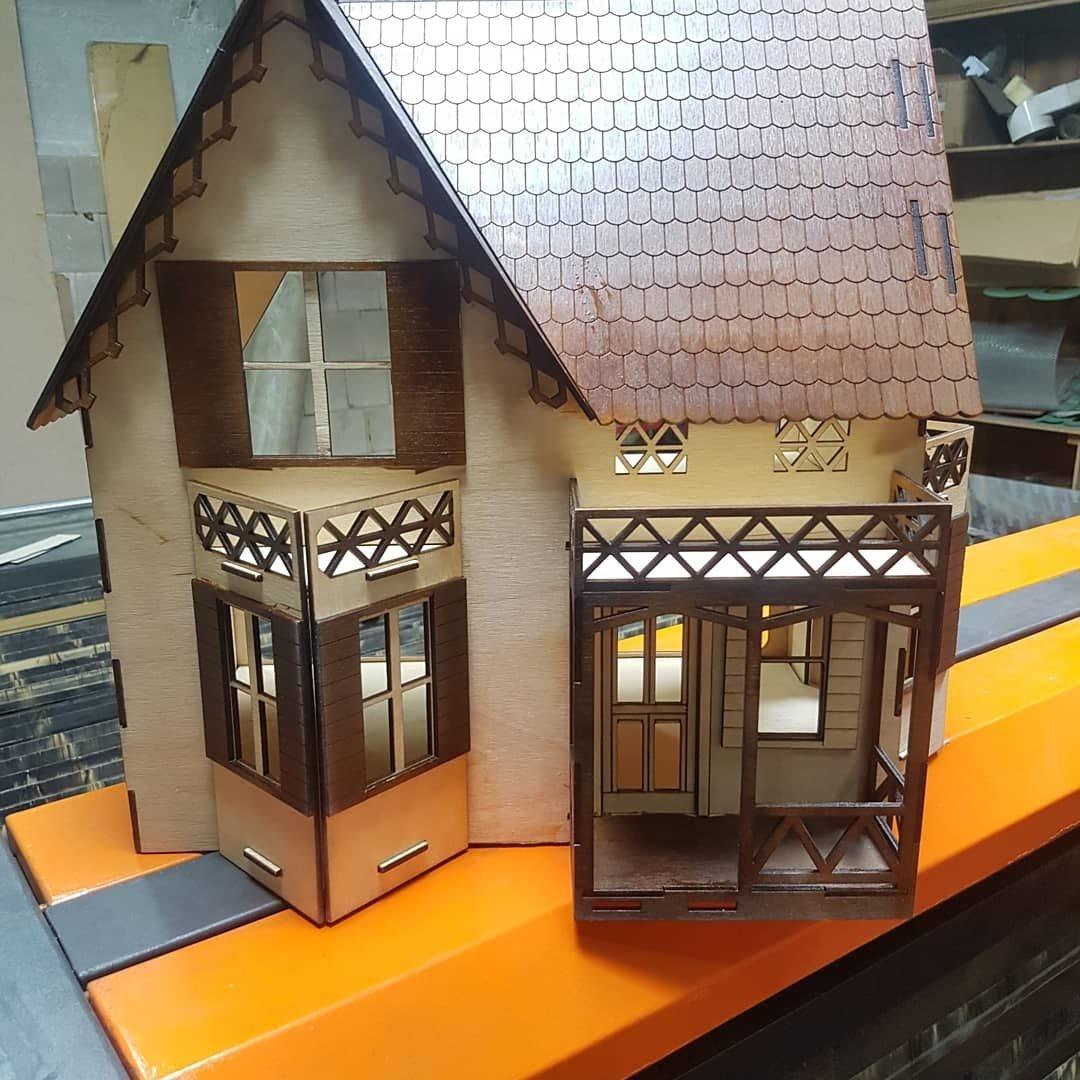 Wooden Dollhouse Cnc Cutting Free CDR Vectors Art