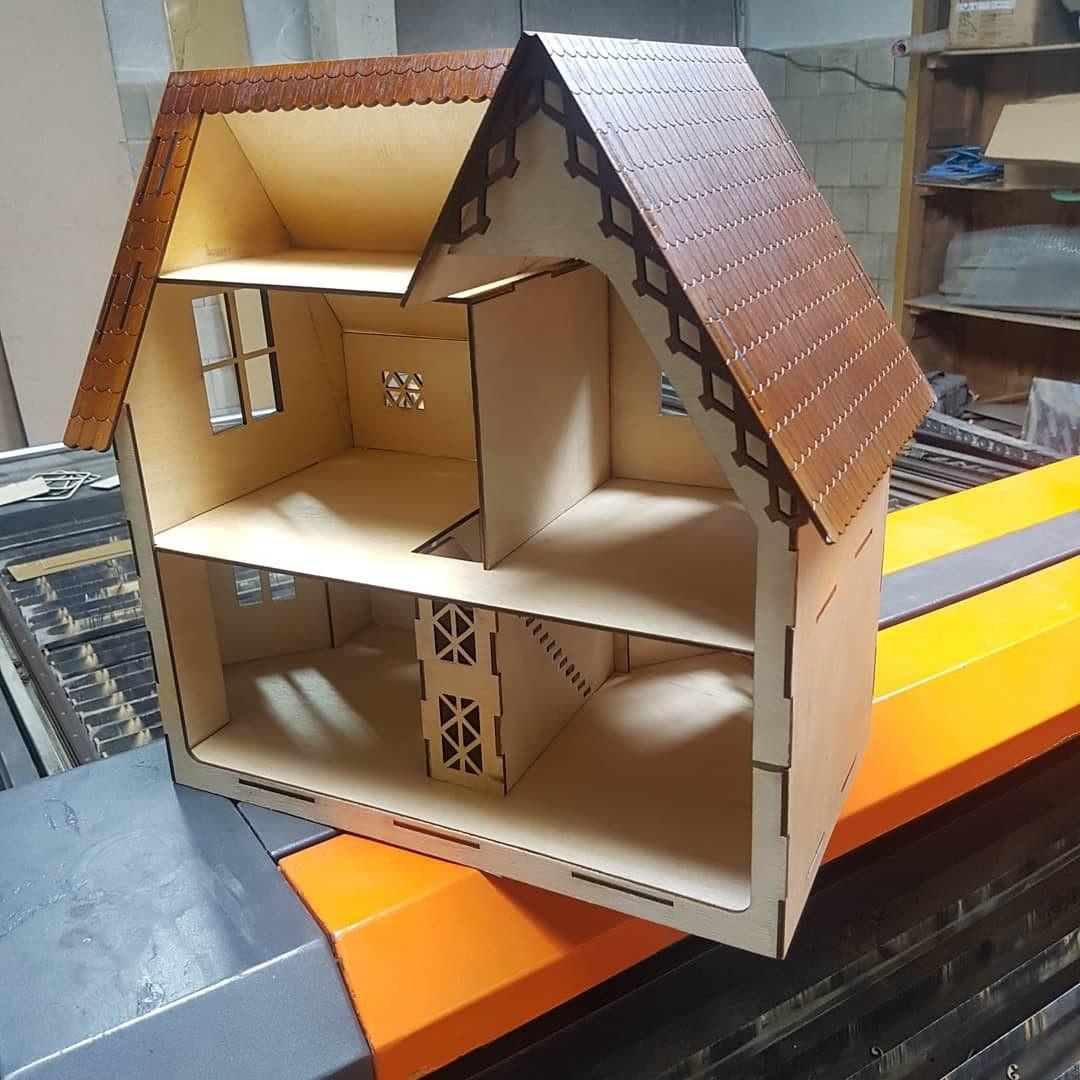 Wooden Dollhouse Cnc Laser Cutting Free CDR Vectors Art