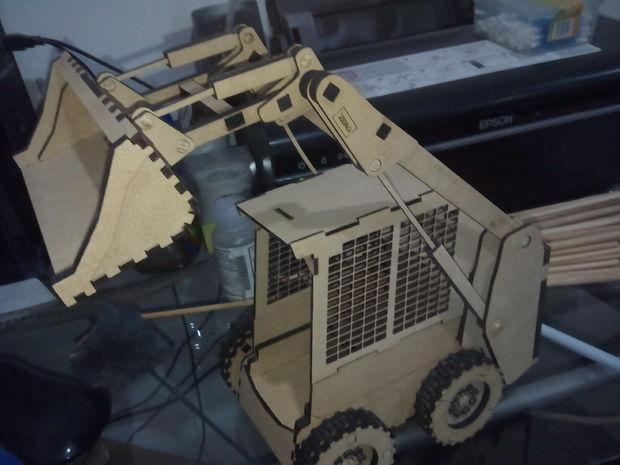 Wooden Mini Bulldozer Cnc Cutting Free CDR Vectors Art