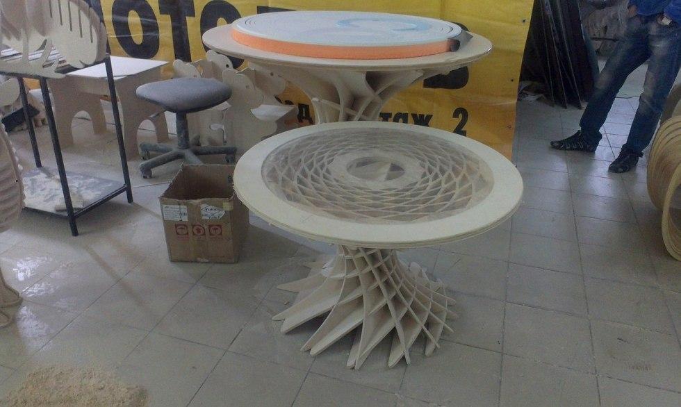Wooden Parametric Table Cnc Free CDR Vectors Art